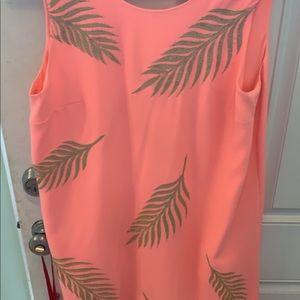Peach flowy dress